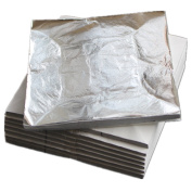 100 sheets 14 X 14cm Imitation silver leaf sheet foil aluminium leaf.