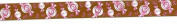 Satin Ribbon Brown w/Pink Candies - 2 Yards