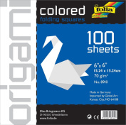 Folia Origami Paper 15cm -by-15cm White 100 Sheets