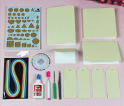 TtoyouU Quilling Paper Kits 15 Colours 150 Strips 0.5cm Width 52cm Length with Basic Quilling Supplies Paper Craft DIY Tools
