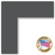 24x30 Cinder Custom Mat for Picture Frame with 20x26 opening size
