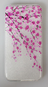 Wwwe® Ipod Touch 5 Case, Touch 6 case, Cherry Blossom Back Cover for Ipod Touch 5/6 with a Phone Bracket and Anti-dust Plug