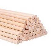 eBoot Unfinished Natural Wood Craft Dowel Rods 30cm x 1/ 10cm , 50 Pack