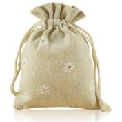 G2PLUS® 20 PCS Cotton Burlap Drawstring Pouches Gift Bags Wedding Party Favour Jewellery Bags