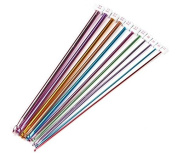 "Biowow 11Pcs 2-8mm Different Size 10.5"" Multicolour Aluminium Crochet Hook Knit Needles"