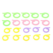 Dophee 20Pcs Colourful Knitting Crochet Craft Locking Stitch Markers Holder Needle Clip