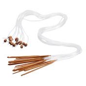 Dophee 12 Sizes 1.2M 120cm Afghan Tunisian Carbonised Bamboo Needle Crochet Hooks Set
