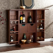 Hampton Fold-Up Bar Server,Walnut with Unique fold away system optimises space in your home