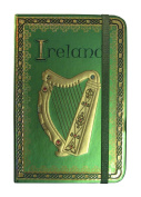 Ireland Harp Foil Notebook With A Celtic And Trinity Designed Border