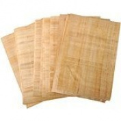 50 Blank Egyptian Papyrus Sheets for Art Projects 6x8 Inch