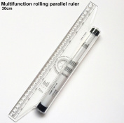 CHENGYIDA 1 Piece roll ruler parallel ruler 30cm universal foot chiban angle rule balancing scale drawing reglas Multi-purpose Rolling rule
