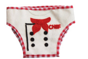 Silk Road Bazaar The Chef Nappy Cover, Red/White
