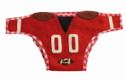 Silk Road Bazaar The Football Star Nappy Cover, Red/White/Brown