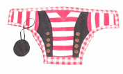 Silk Road Bazaar The Pirate Nappy Cover, Red/White