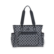 Carter's City Tote Geo Print Nappy Bag, Black/White