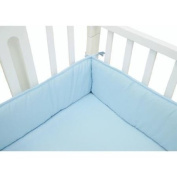 TL Care Cotton Percale Mini Crib Bumper, Blue