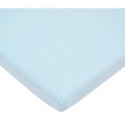 TL Care 100 Percent Cotton Jersey Knit Cradle Sheet, Blue
