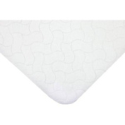 TL Care Flat Quilted Waterproof Cradle Pad, White