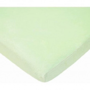 TL Care Heavenly Soft Chenille Cradle Sheet, Celery