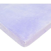 TL Care Heavenly Soft Chenille Cradle Sheet, Lavender