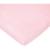 TL Care Heavenly Soft Chenille Cradle Sheet, Pink