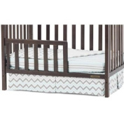 Best Seller Crib Child Craft Ashton and Bradford Mini Crib Toddler Guardrail, Slate, Easily Attaches to Crib Converted to Toddler Bed