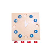 Baby Teaching Materials Early Development Wooden Clock Toys 25cm