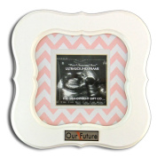 Girl Pink Chevron Our Future Baby Picture Frame Keepsake Nursery Room Home Decor
