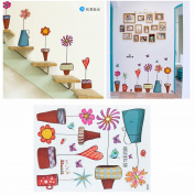 40x60cm Baby Room Cartoon Flower Craft Butterfly Stickers Window Glass DIY Decal Home Nursery Wall Decoration