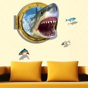 Children Cute 3D Ocean Shark Wall Sticker Removable Home Kids Room Decoration Decal Art DIY Paper