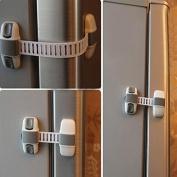 Baby Kids Cabinet Fridge Baby Security Sliding Door Drawer Straps Freezer Safety Wardrobe Cupboard Catch Lock