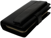 Women's Ultra Large Capacity Leather Wallet with Zipper Pocket