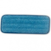 Rubbermaid Commercial Products Q820BLU Microfiber Wall & Stair Wet Mopping Pad, Blue - 35cm x 14cm .