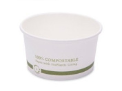 World Centric's 100% Biodegradable, 100% Compostable 350ml Hot Paper Ingeo Lined Soup Bowls