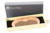 Master Panda Love Beard Comb - 100% Pear Wood, No Static & No Snag | Handmade for Beards, Moustaches and Hair with a Premium Gift box