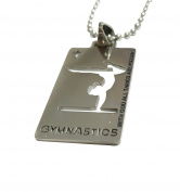 "Christian Stainless Steel Sport Medal Necklace - Chain Included ""with God all things are possible"" Christian Sport Medal"