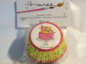 Timree Baking Cups - 50 per pkg - Yellow Polka Dot