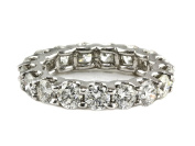 4.00ct Floating Round Diamond in 14K White Gold Eternity Band Ring - Size 6