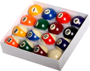 Pool Table Billiard Ball Set - Regulation Size 5.1cm - 0.6cm Full 16 Pool Ball Set