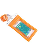 Tech Candy Dry Spell Phone Floatie Water Defender Bag, Orange, Fits All Iphones