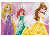 """Zak Design """"Disney Princess"""" Kids Meal Time Plastic Placemat! Featuring Rapunzel, Ariel & Belle! Makes Clean Up A Breeze!"""