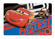 "Disney Pixar ""Cars"" Kids Meal Time Plastic Placemat! Featuring Lightning McQueen & Mater! Makes Clean Up A Breeze!"