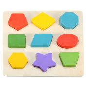 Baby Kid Educational Wooden Toys Baby Intelligence Puzzle Shape