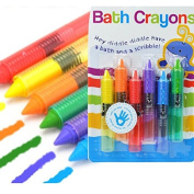 6Pcs Colourful Child Baby Bath Crayons Toys Washable Painting Drawing Doodle Brush Safety Wax Pen