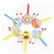 NOQ Cartoon Wooden Rattle/Children's Educational Toys(Random Delivery)