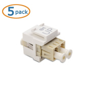 Cable Matters (5-Pack) LC Duplex Multimode Fibre Keystone Jack in Ivory