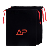 Lightning Power - Pack of 3 Universal Headphone Protection Pouch Bag 28cm x 23cm