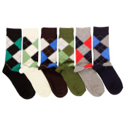 Freedom Men's 6 Pack of Colourful Fashion Dress Socks