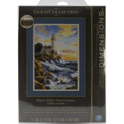 """Brand New Gold Collection Rocky Point Counted Cross Stitch Kit-28cm """"X17"""""""" 18 Count Brand New"""