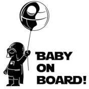 Darth vader baby on board star wars Sticker Decal For laptop Car Windows Room
